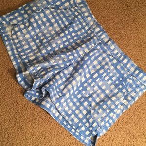 Lilly Pulitzer shorts blue and white checked